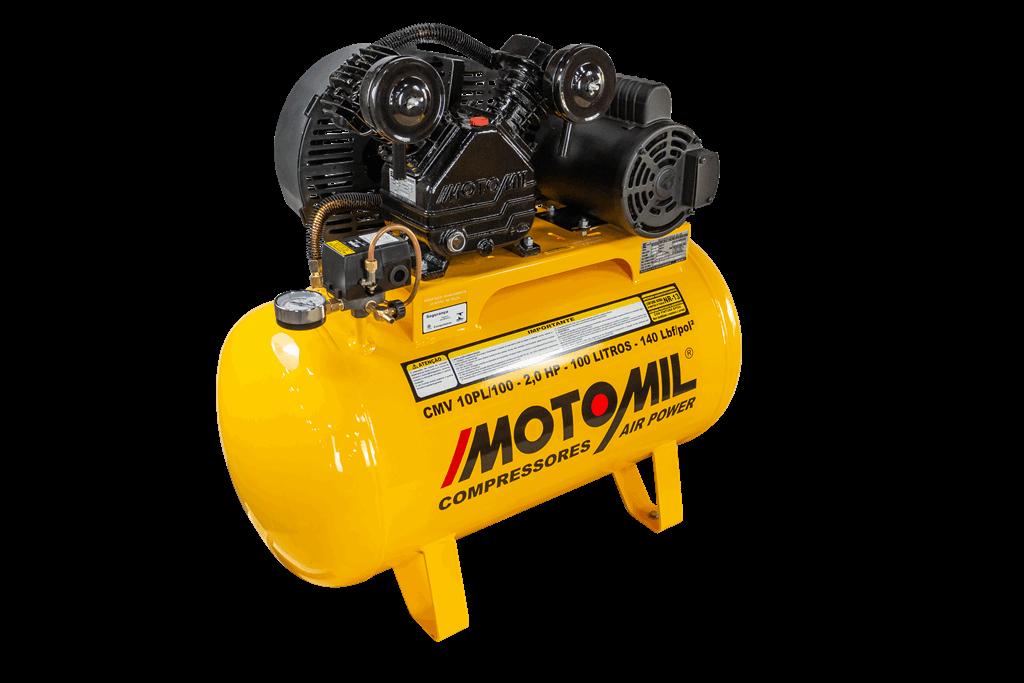 Compressor de Ar 140lbs 2HP CMV-10PL/100A - Motomil