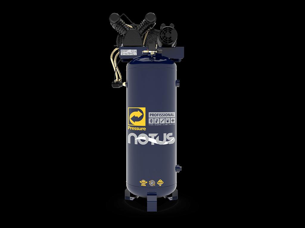 Compressor de Ar Vertical 10pcm/100L 2cv NOTUS 10/100V - PRESSURE