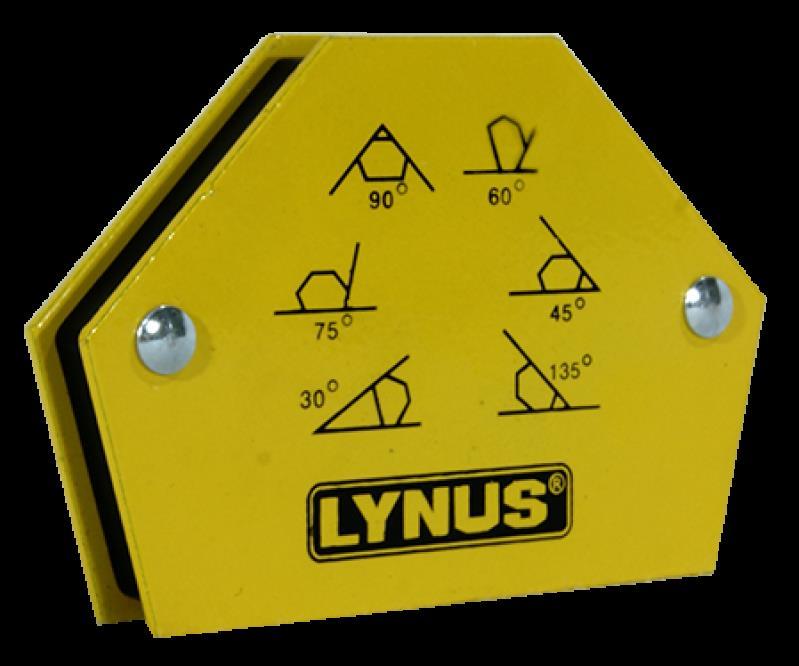 Esquadro Magnético para solda 12kg EML-12A - Lynus