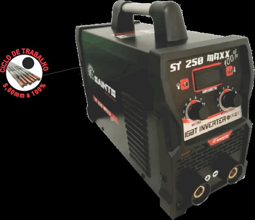 Inversor de Solda 250A 220V ST 250 MAXX 100% - Saints Soldas