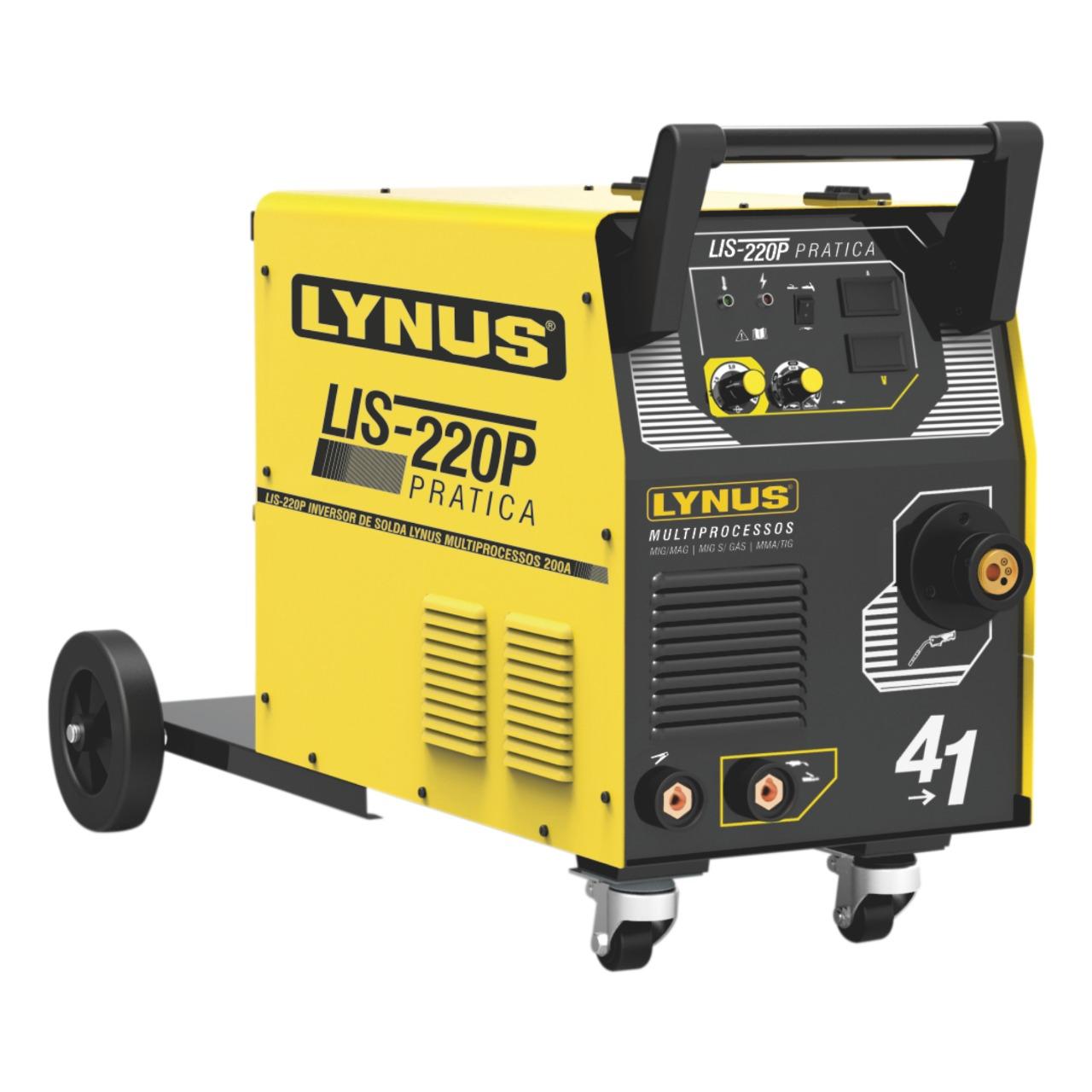 Inversora de Solda Multiprocessos 200A 220V LIS-220P - Lynus