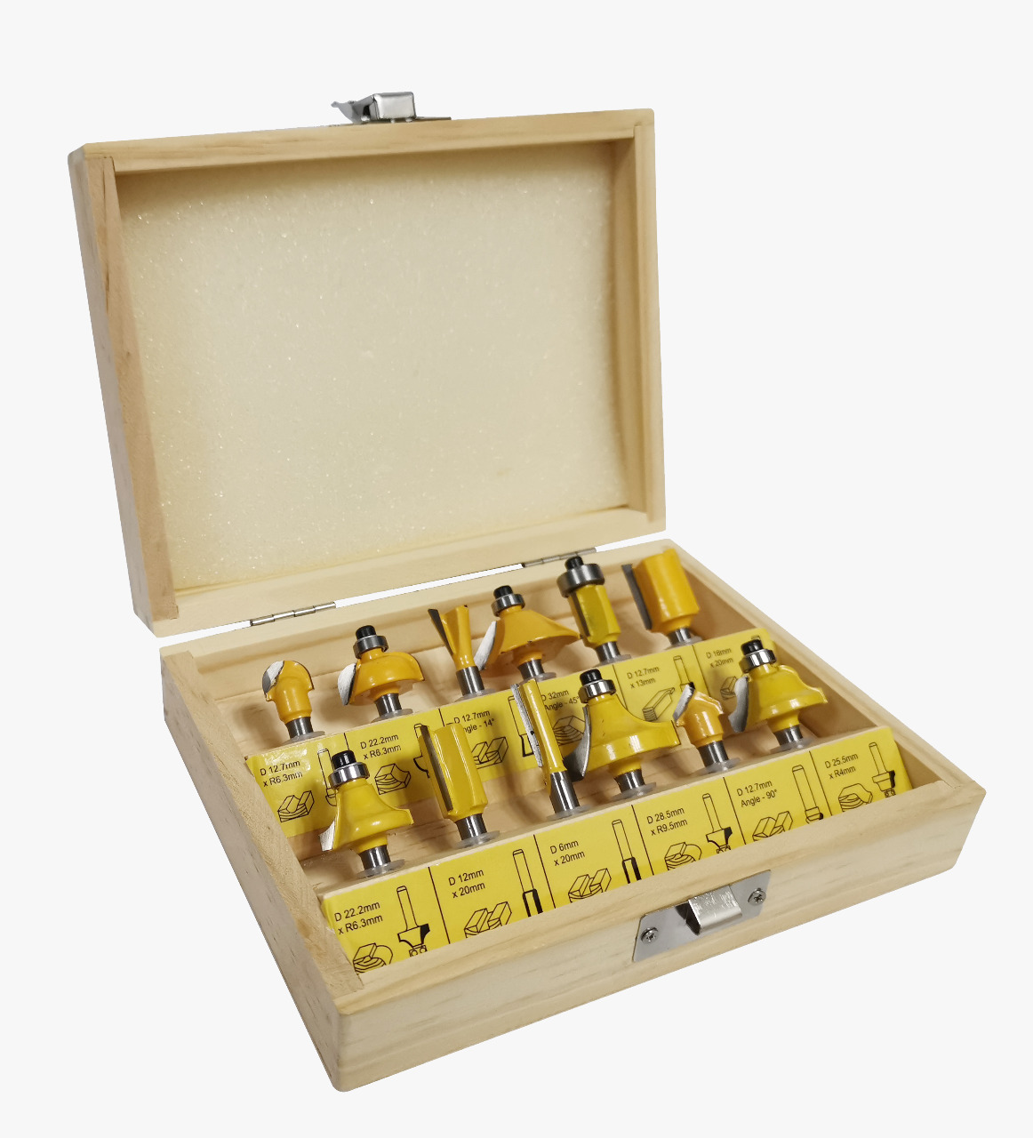Jogo de Fresas para madeira c/ 12 peças - Titanium
