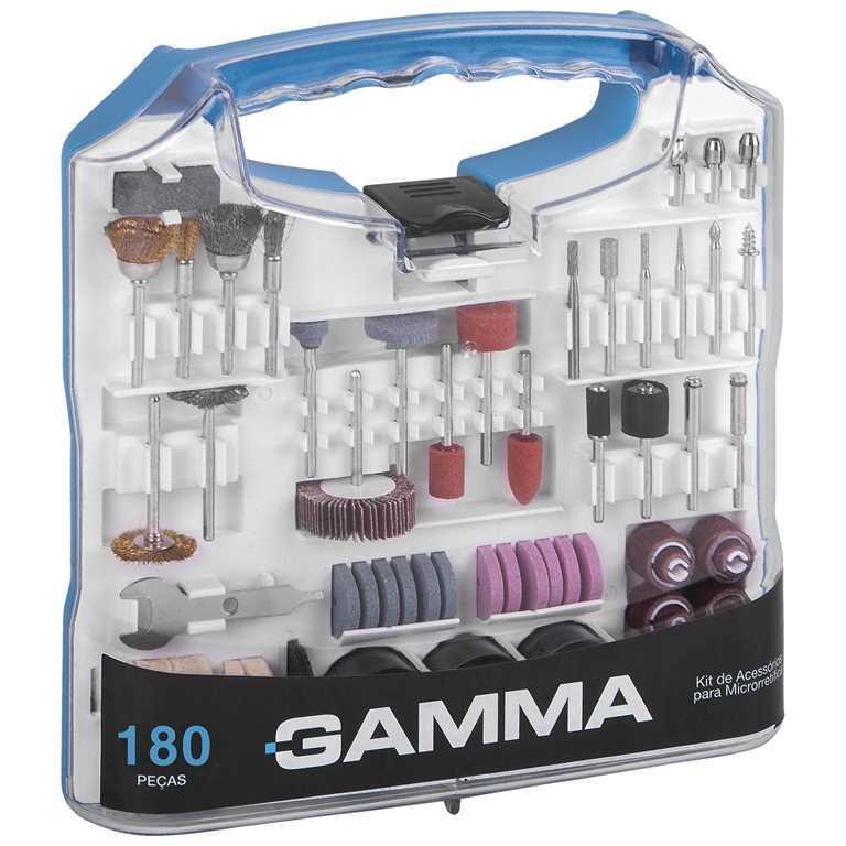 Kit de acessórios para Microrretífica com 180 peças G19507AC - Gamma
