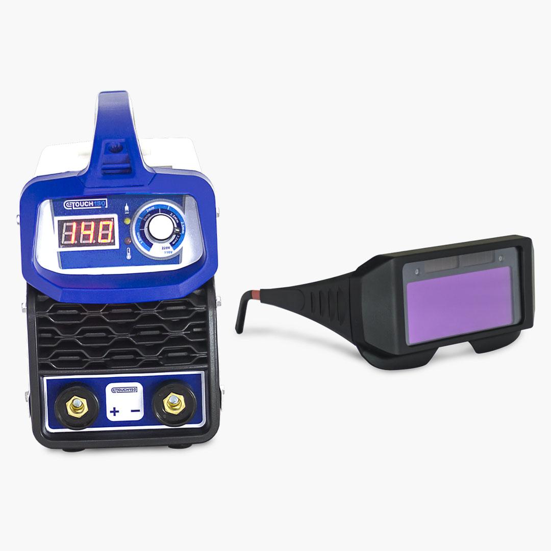 Máquina de Solda Inversora 140A TOUCH 150 BV + Óculos de Proteção c/ Escurecimento Automático - Boxer