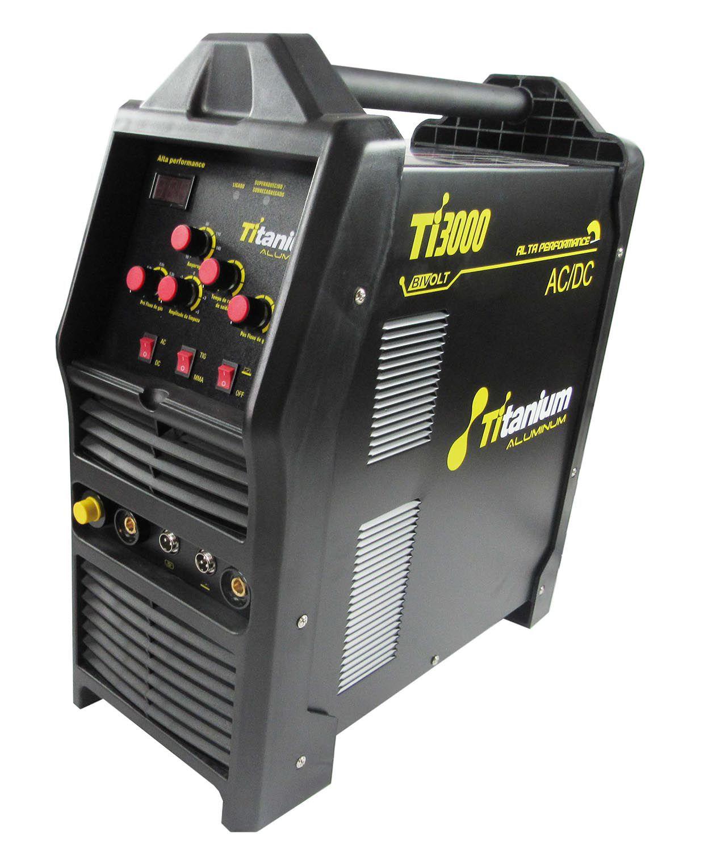 Máquina Solda Aluminum Tig3000 Ac/Dc Bivolt - Titanium