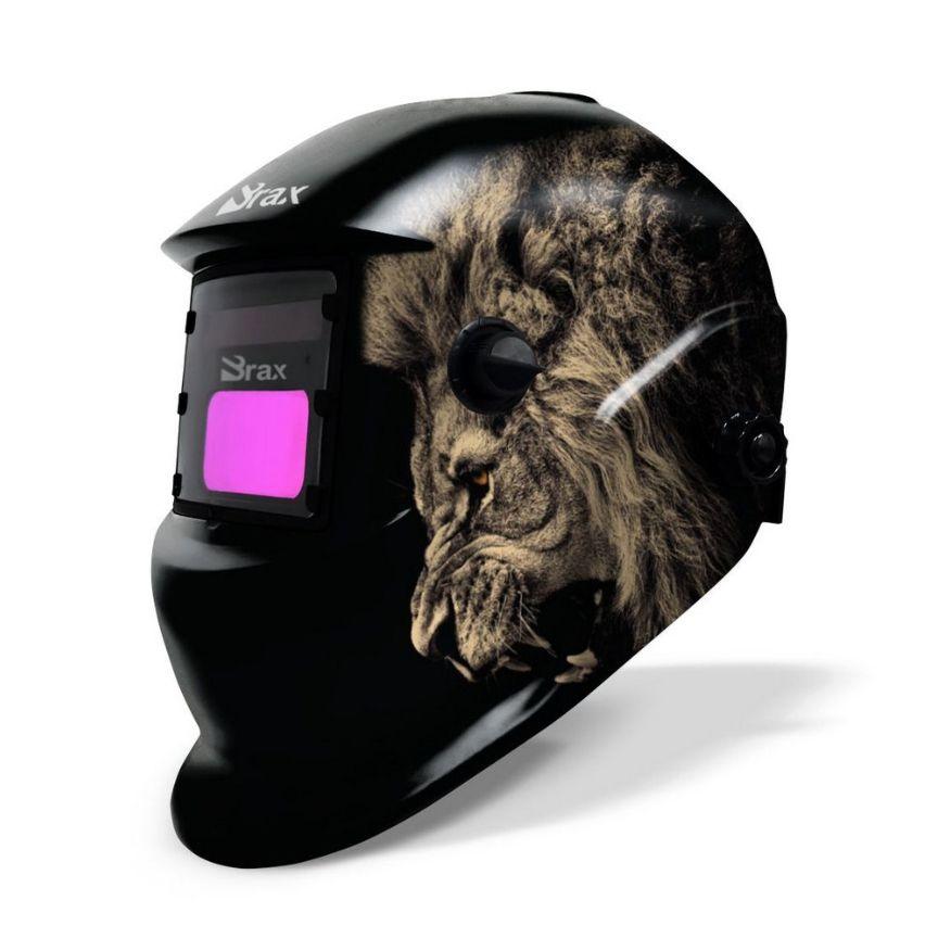 Máscara de Solda Automática com Regulagem: Leão - BRAX
