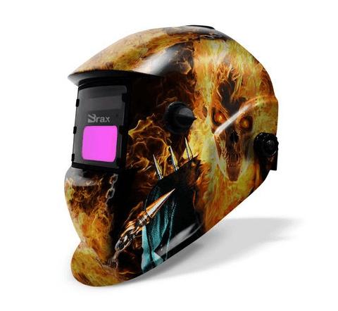 Máscara de Solda c/ Regulagem Motoqueiro Fantasma - BRAX