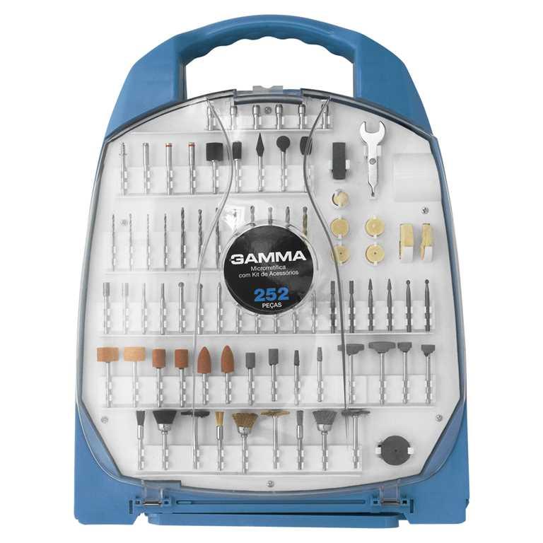 Microrretífica com kit de 252 acessórios 130W G19502/BR - Gamma