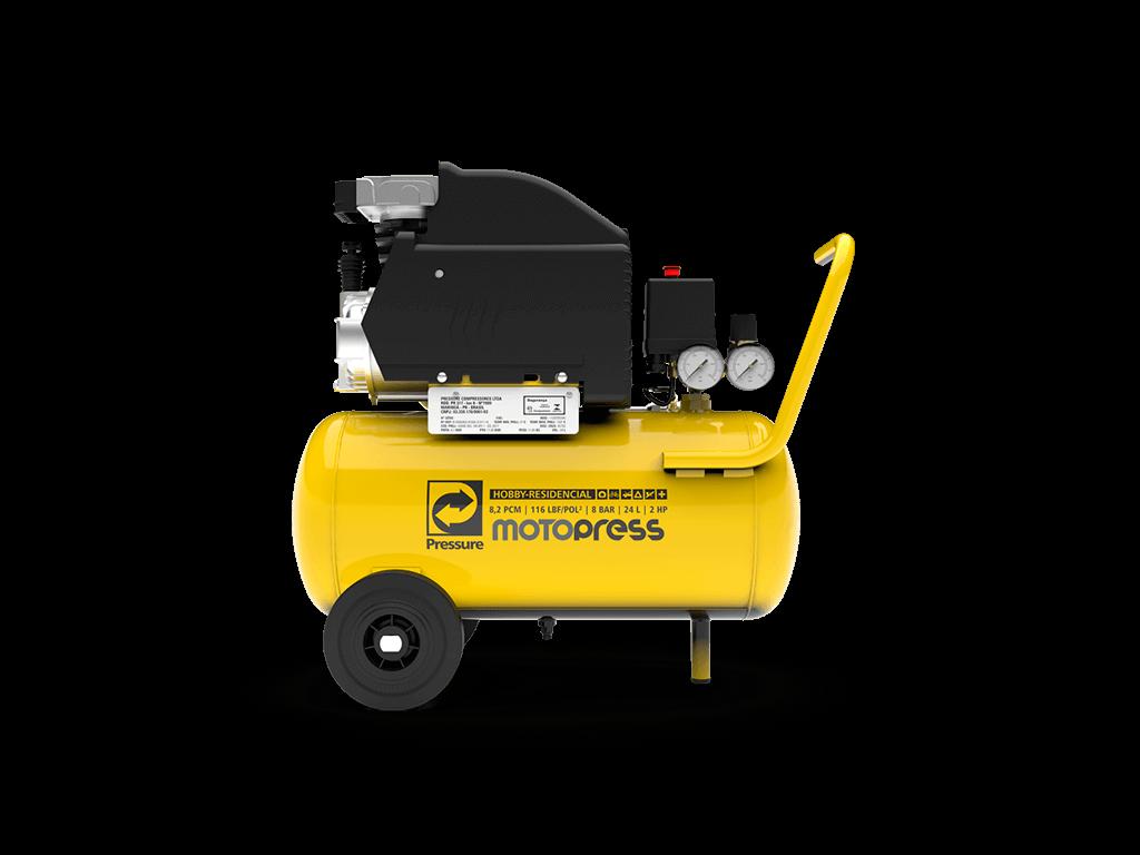 Motocompressor 8pcm/24L 2cv 116psi 220V MOTOPRESS - PRESSURE