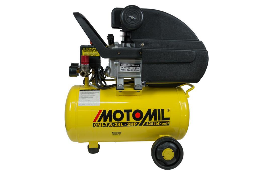 Motocompressor de Ar 120lbs 2hp 220V CMI-7,6/24BR - Motomil