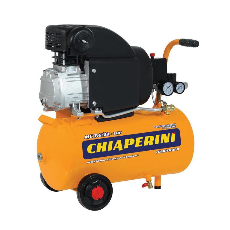 Motocompressor de ar 21 litros 2HP 110V MC 7.6/21 - Chiaperini