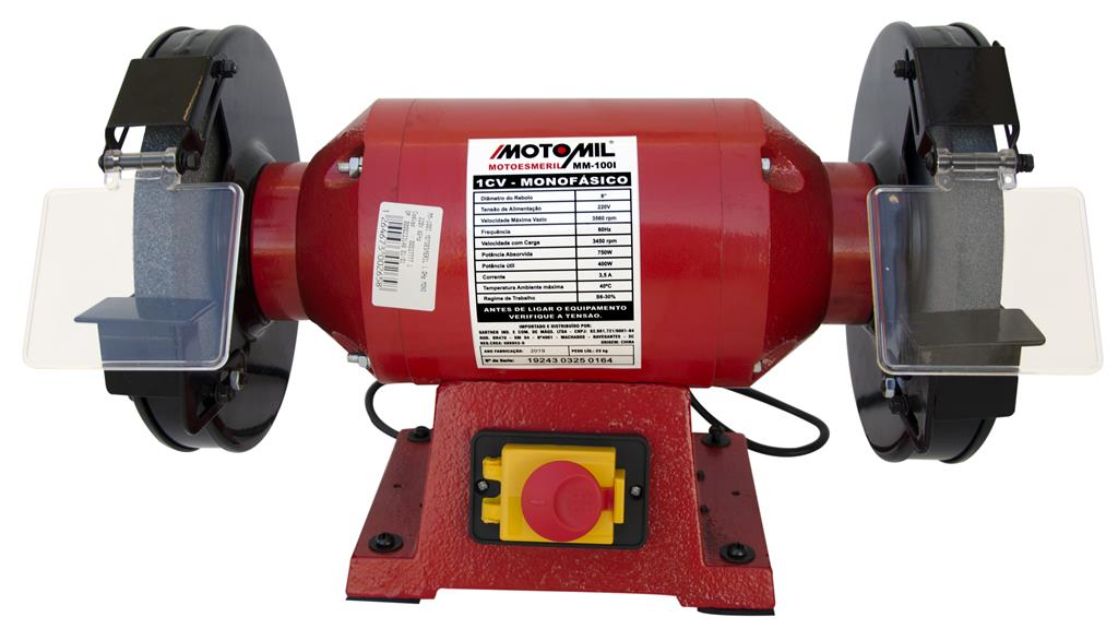Motoesmeril 1,0Hp Monofásico 60Hz MM-100I - Motomil