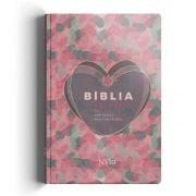 Bíblia Anote NVI capa especial - Coração Rosa