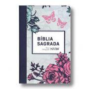 Bíblia NVI Grande Capa Especial - Lilas Floral