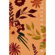 Bíblia NVT Letra Grande - Flores Marrom