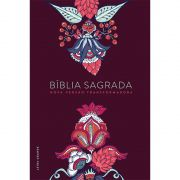 Bíblia NVT Letra Grande - Indian Flowers Vinho