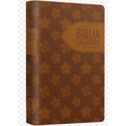 Bíblia Sagrada Floral Marrom