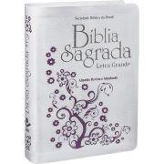 Bíblia Sagrada Letra Grande RA Capa Branca