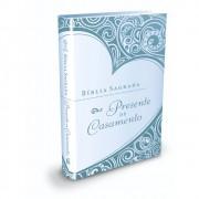 Bíblia Sagrada Presente de Casamento - Capa Azul