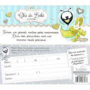 Convite Chá de Bebê Menino - Pacote com 50 Unidades