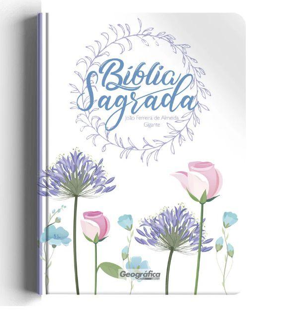 Bíblia RC Gigante Capa Especial - Floral Branca