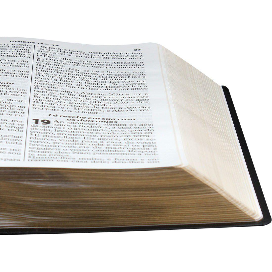 Bíblia Sagrada Letra Extragigante em Couro Legítimo