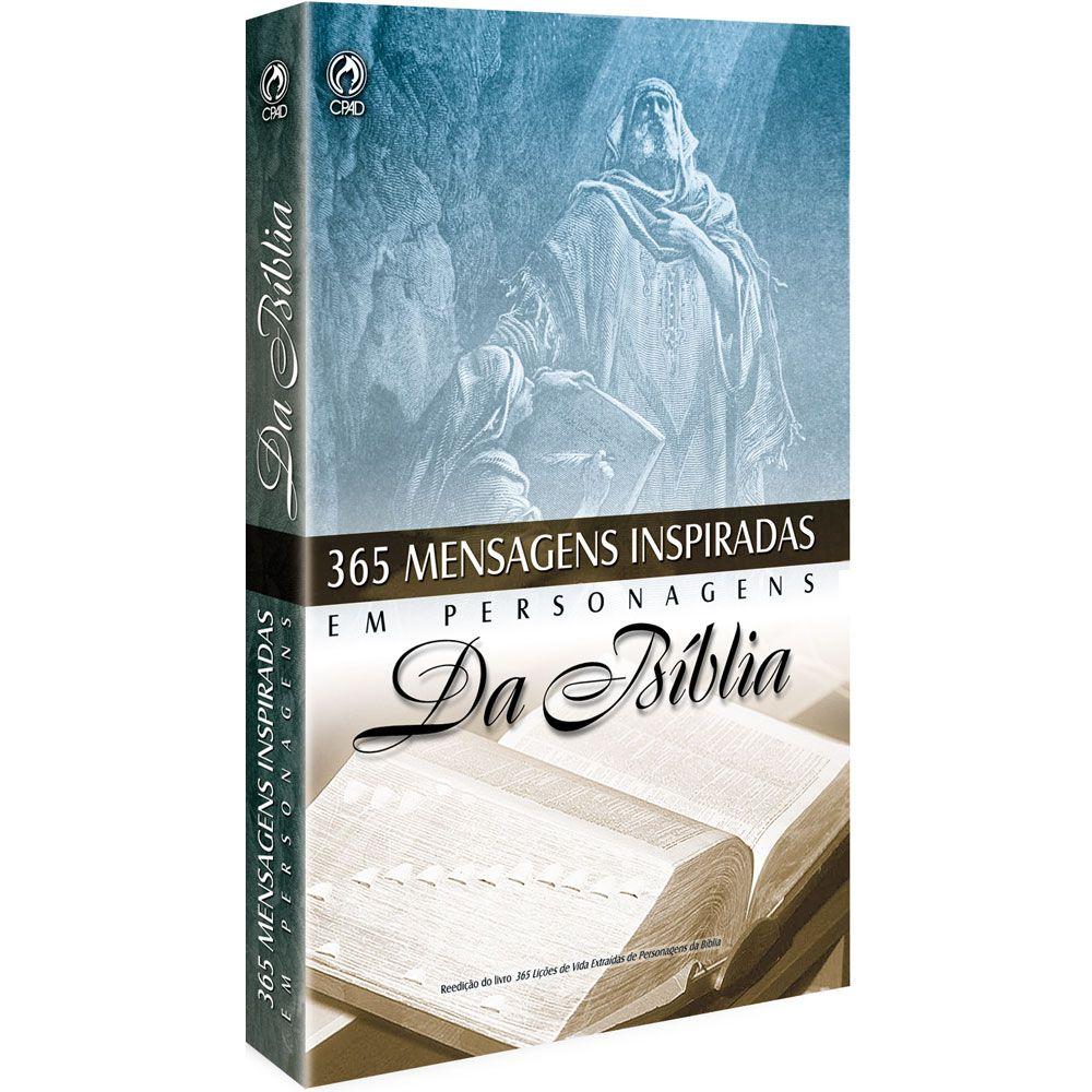 Livro 365 Mensagens Inspiradas em Personagens da Biblia