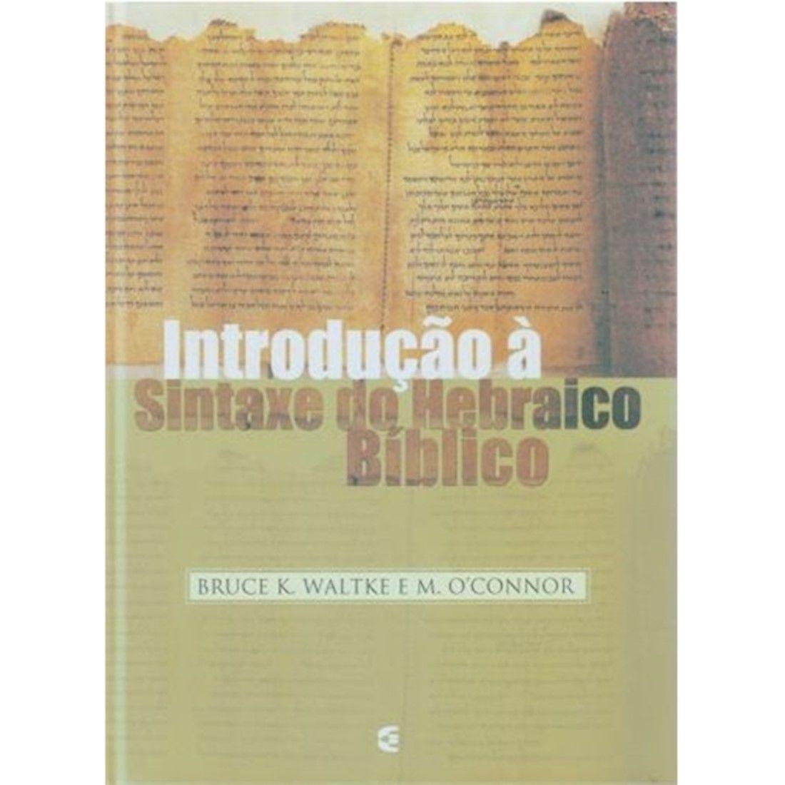 Livro Introdução à Sintaxe do Hebraico Bíblico