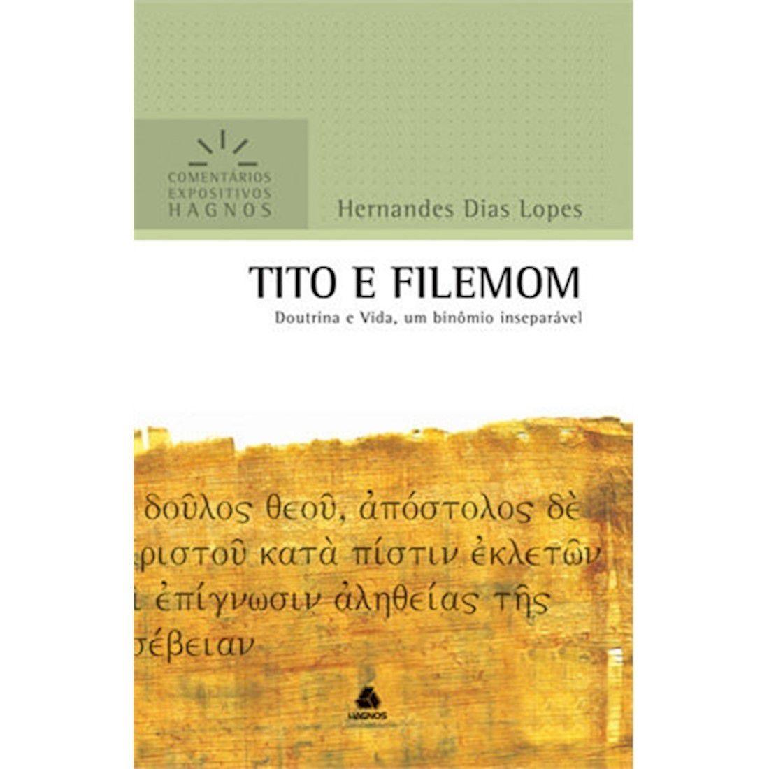 Livro Tito e Filemom   Comentários Expositivos Hagnos