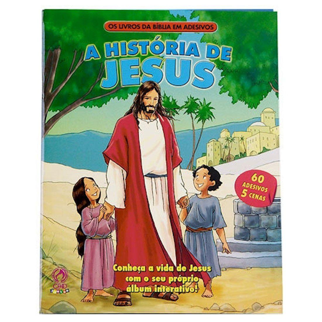 Os Livros da Bíblia em Adesivos - A História de Jesus