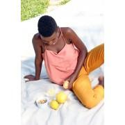 Blusa jasmine menta, páprica e natural