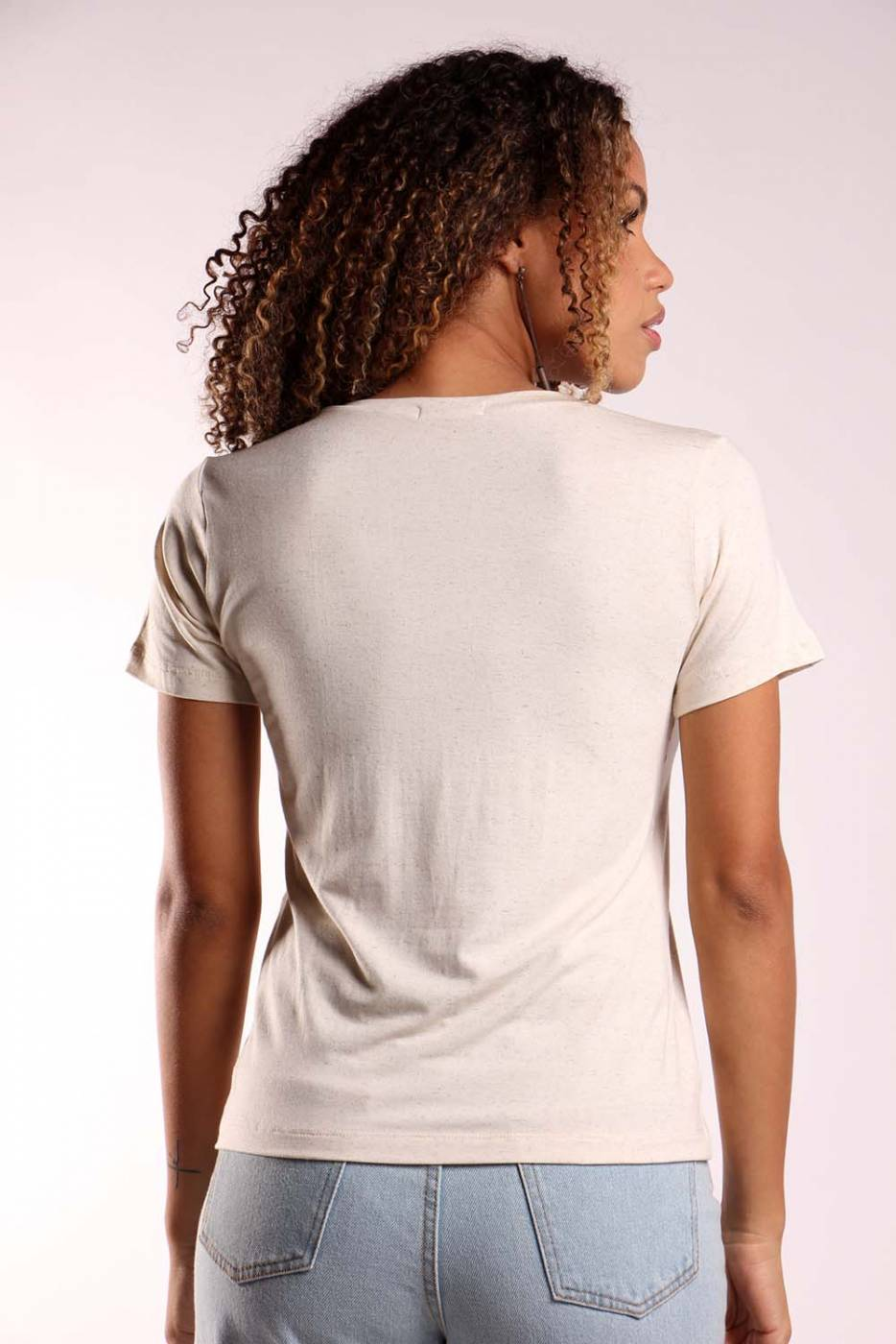 Blusa básica decote v