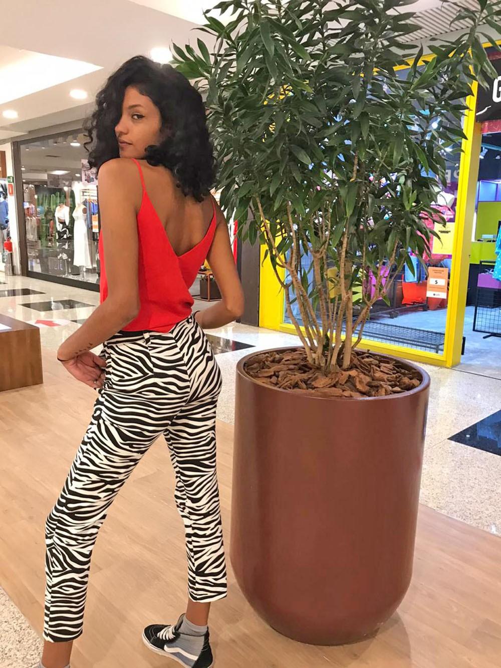 Calça estampa zebra
