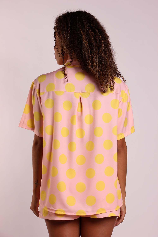 Camisa poá rosa