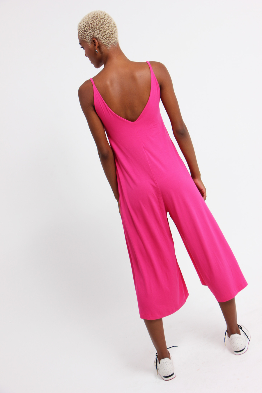 Macacão trevo pink e lavanda