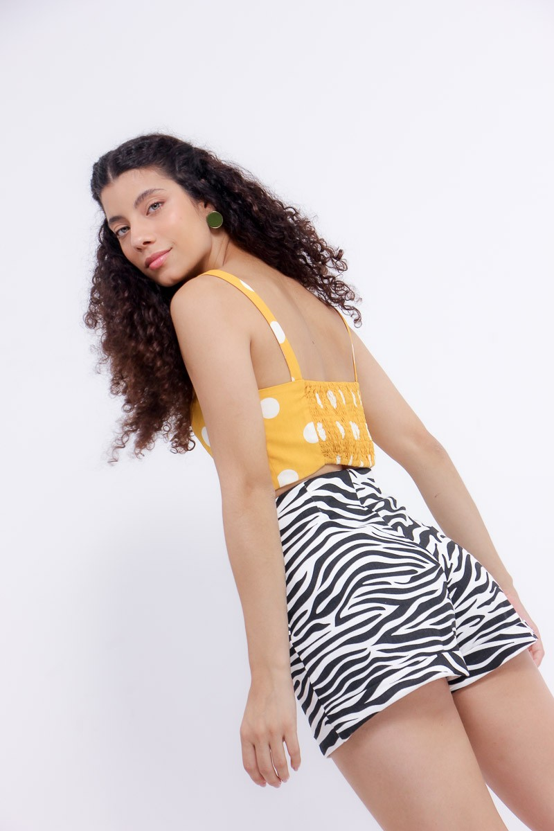 Short estampa zebra