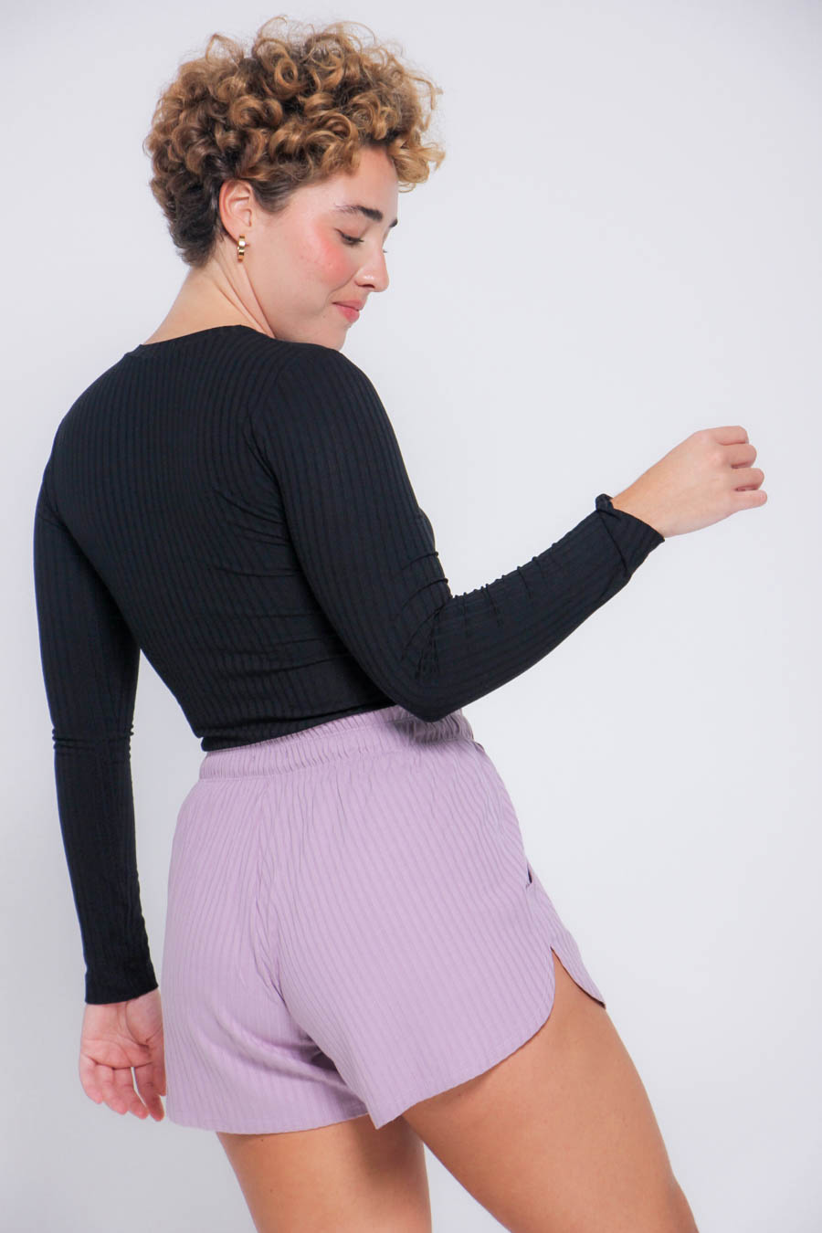 Short Nicon canelado