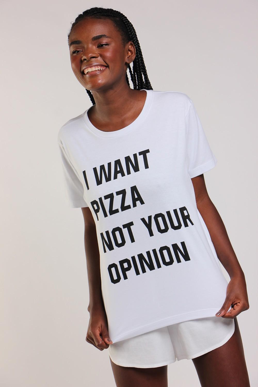 T-shirt I want pizza