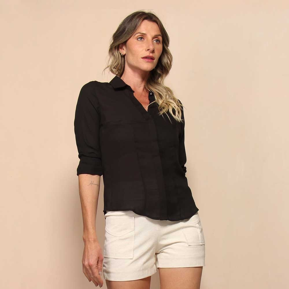 CAMISA BASIC COLLOR STRASS
