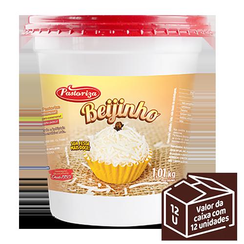 Beijinho 1,01kg<br /> - Caixa com 12 potes - 12,12 kg