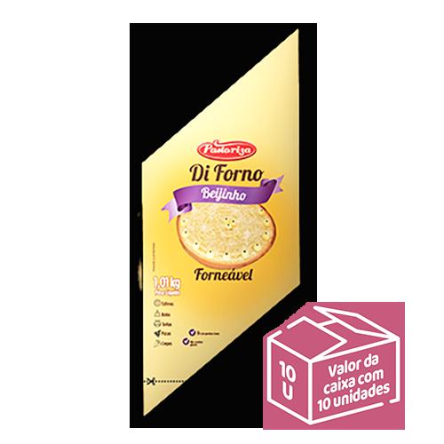 Beijinho Forneável 1,01kg<br> - Caixa com 10 bisnagas - 10,1 kg