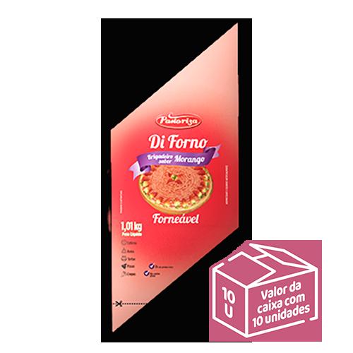 Brigadeiro sabor Morango Forneável 1,01kg<br> - Caixa com 10 bisnagas - 10,1 kg