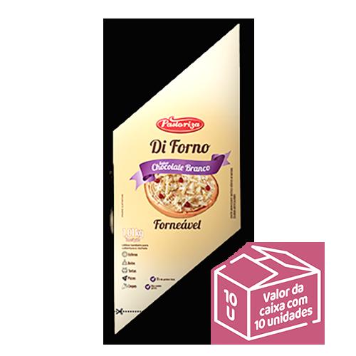 Chocolate Branco Forneável 1,01kg<br> - Caixa com 10 bisnagas - 10,1 kg