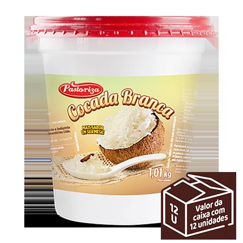 Cocada Branca 1,01kg<br> - Caixa com 12 potes - 12,12 kg