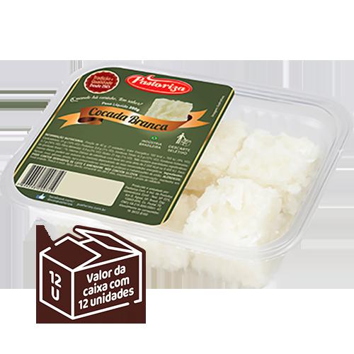 Cocada Branca 200g<br> - Caixa com 12 bandejas - 2,4 kg