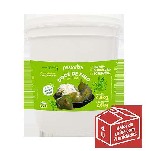 Doce de Figo em Calda 4,8kg<br> - Caixa com 4 baldes - 19,2 kg