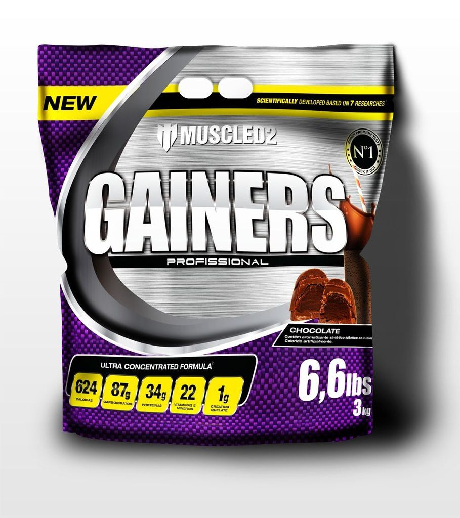GAINERS MUSCLED2 - SABOR CHOCOLATE (REFIL 3kg)