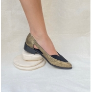 Sapato Sixties Bronze com Preto