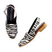 Sling Back Isabel Zebra