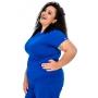 Scrub Confort Azul Caneta   Plus Size